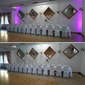 Doświetlenie saliMiejsce: Dom Weselny Złota RóżaBefore / After